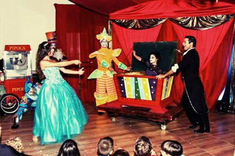 ilusionista magico lucas palco festa circo